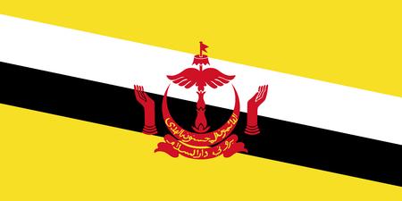Official vector flag of Negara Brunei Darussalam . Illustration