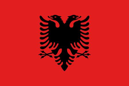 flag: Official vector flag of Albania