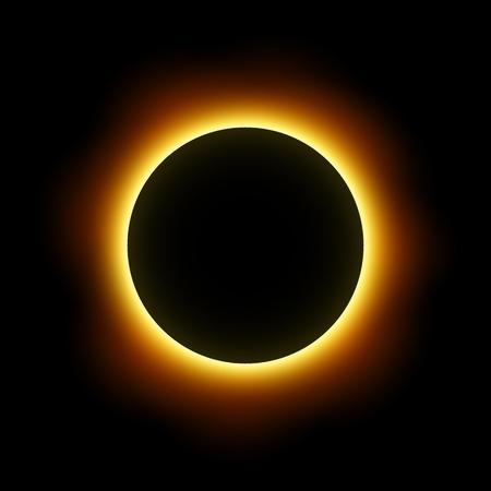 Totale verduistering van de zon. Vector. Vector Illustratie
