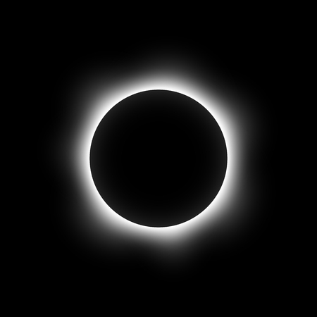 total eclipse of the sun vector
