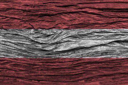 古い木製の背景の高詳細でオーストリアの国旗。3 D イラスト。  写真素材