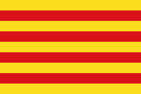 Official vector flag of Catalonia .
