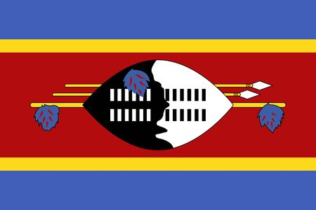 Official vector flag of Swaziland ( Kingdom of Eswatini ) .
