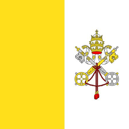 Official vector flag of Vatican City . Illustration