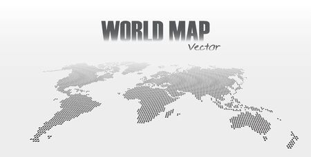 Perspective World Map On Gray Background . Royalty Free Cliparts ...