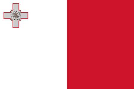 Official vector flag of Malta . Illustration