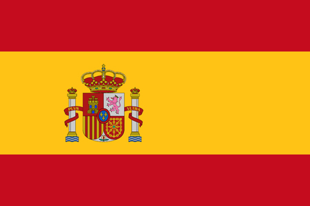Official vector flag of Spain .