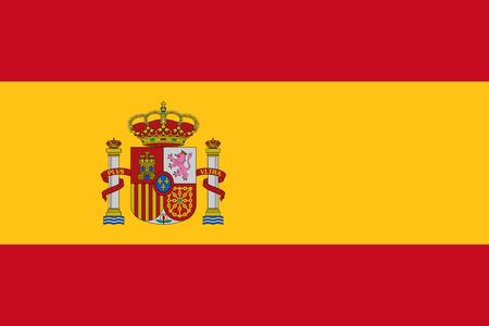 Officiële vectorvlag van Spanje. Vector Illustratie