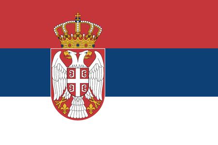 セルビアの公式のベクトル フラグ。