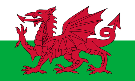 Official vector flag of Wales .