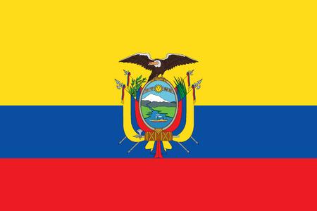 Official flag of Ecuador, vector illustration.