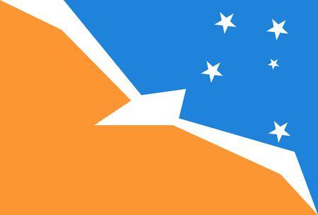 Official flag of Argentine Antarctica Иллюстрация