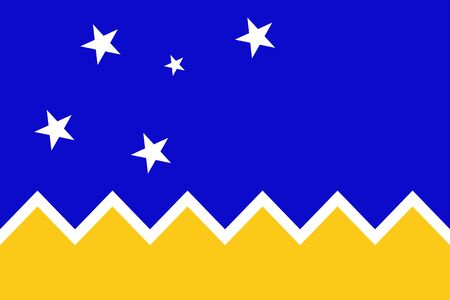 Official vector flag of Chilean Antarctic Territory . Illustration