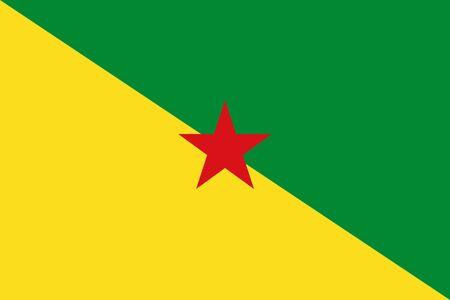 Official vector flag of French Guiana . Illustration