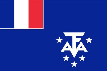 フランス南部と南極の土地の公式旗.