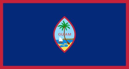 Official vector flag of Guam .