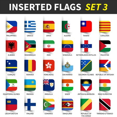All flags of the world Ilustracja
