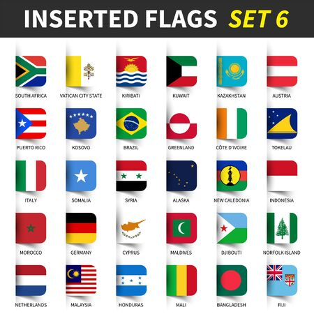 All flags of the world Vettoriali