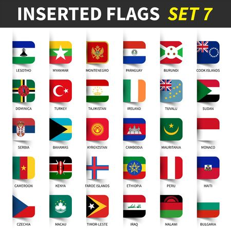 All flags of the world Illustration