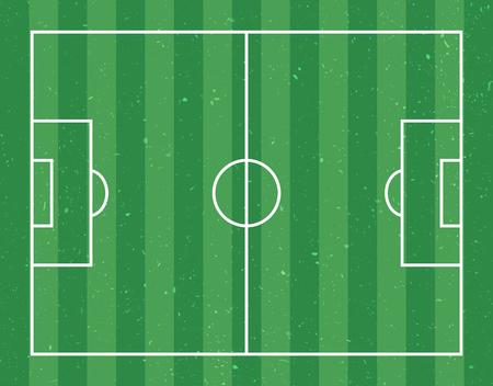 Football field flat design vector illustration Ilustracje wektorowe