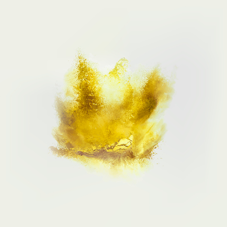 A colored explosion of powder. Flying in different directions powder for design and decoration. Illustration