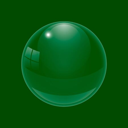 condensation: Beautiful glossy ball. A three-dimensional sphere for design. A transparent drop on a colored background. Illustration Stock Photo