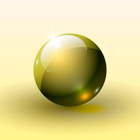 shiny buttons: Beautiful glossy ball. A three-dimensional sphere for design. Illustration Stock Photo