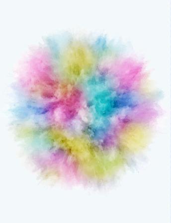 Una esplosione colorata di meteorite volare in diverse direzioni di ricambio per il design e la decorazione. illustrazione Archivio Fotografico - 89824095