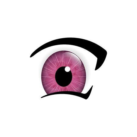 Human eyes closeup. Beautiful big eyes, vector illustration.