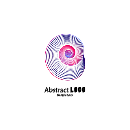 Abstract icon. Abstract shell icon of the company. Creative shell symbol for business use. Illustration