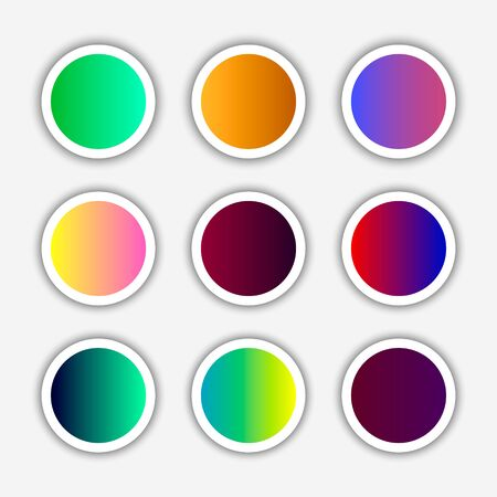 Color square buttons. Modern bright buttons for design in the style of flat. Vector illustration Illustration