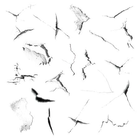 Set texture cracks. Grunge texture of cracks for design and execution. Vector illustration Ilustração
