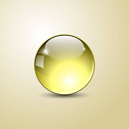 Beautiful glossy ball. A three-dimensional sphere for design. Vector illustration.