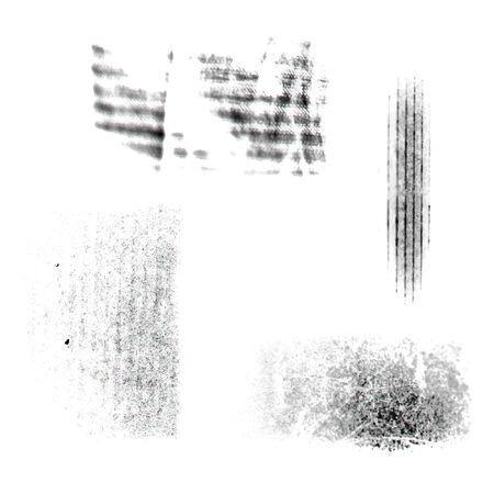 Textures of paper set. Paper folds, folds of cardboard for design. Vector illustration