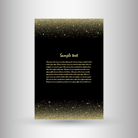 Brochures of silver glitter. Beautiful brochures from sequins for decorated decoration. Vector illustration
