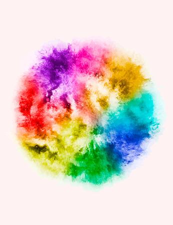 Une explosion colorée de poudre de poudre dans différentes directions de poudre pour la conception et le vecteur de décoration illustration Banque d'images - 98229645