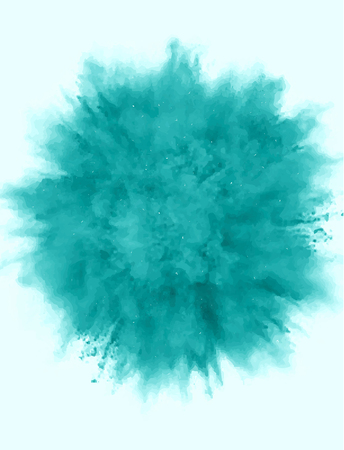 A colored explosion of powder. Flying in different directions powder for design and decoration. Vector illustration.