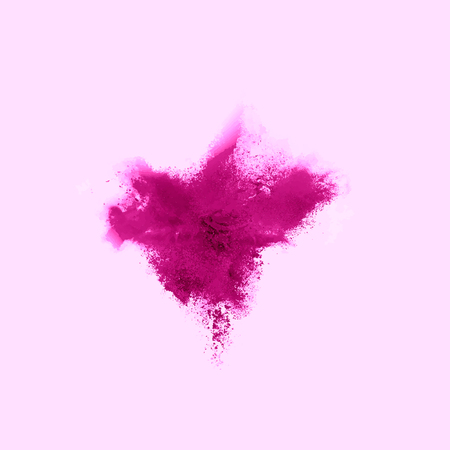 A colored explosion of powder. Flying in different directions powder for design and decoration Vector illustration Vectores