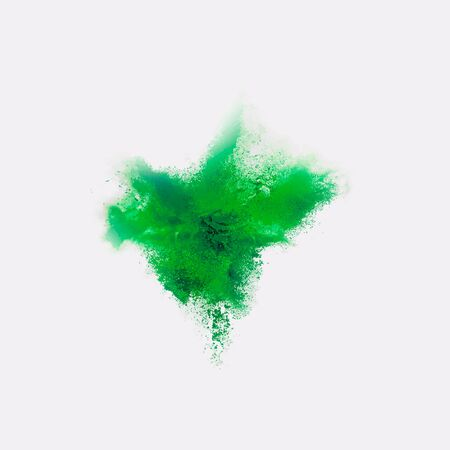 A colored explosion of powder. Flying in different directions powder for design and decoration Vector illustration Ilustração