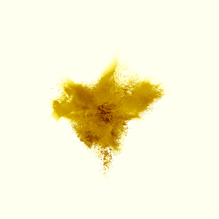 A colored explosion of powder. Flying in different directions powder for design and decoration Vector illustration Illustration