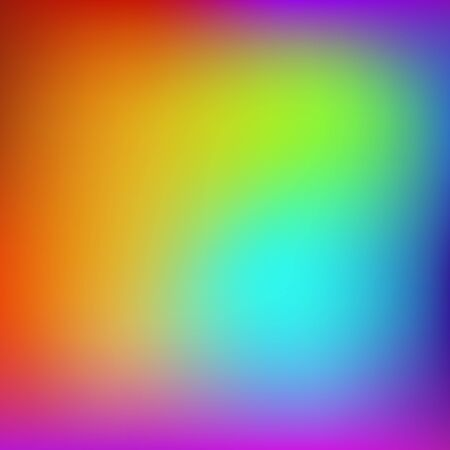 Abstract rainbow background. Blurred colorful rainbow background. Mesh background of rainbow colors. Vector illustration Vectores