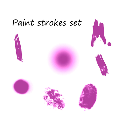 Watercolor splashes. Set of watercolor stains. Paint spots. Illustration Çizim