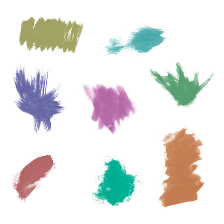 Watercolor splashes. Set of watercolor stains. Paint spots. Vector illustration