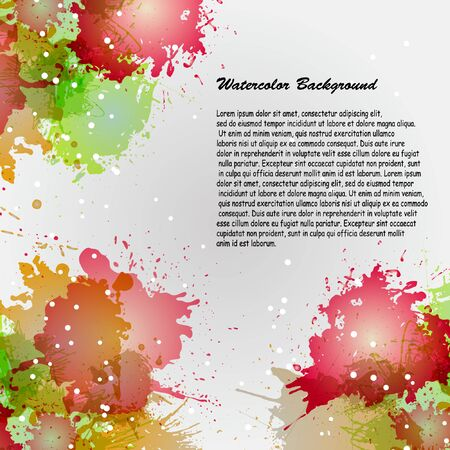 Watercolor backgrounds for design. Beautiful watercolor multicolored spray. Compositions of watercolor stains to decorate banners, brochures and booklets. Illustration
