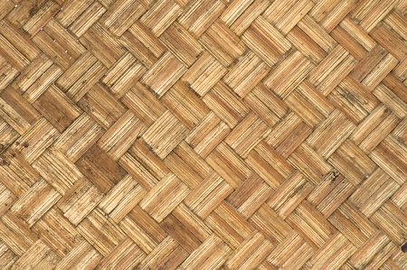 thai-style bamboo basketry wooden texture   in the country. photo