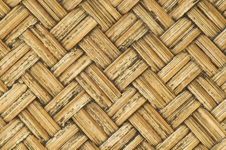 thai-style bamboo basketry wooden texture   in the country.
