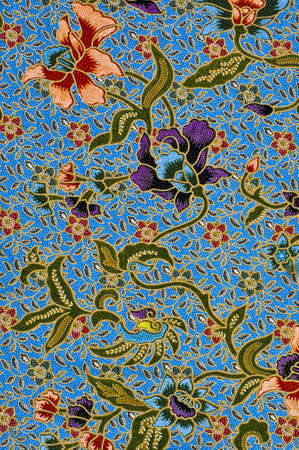 This is general native thai-style handmade fabric pattern Stock Photo