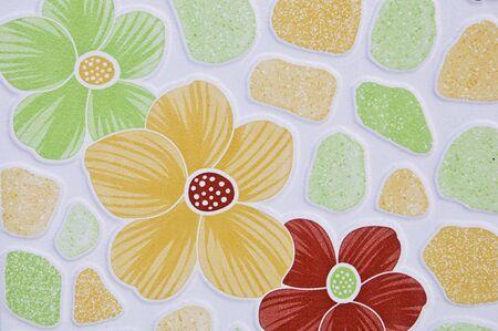 Pattern of flower tiles. photo