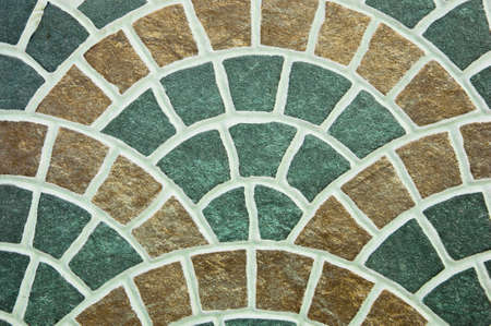 Colorful of tile curved pattern. photo
