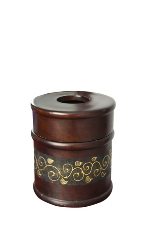 Thai style bamboo art  tissue box. Stock Photo - 9818102
